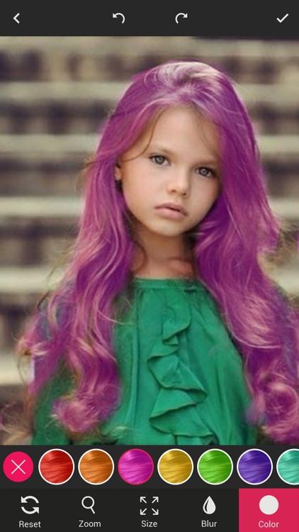 Hair Color Changer - Color Dye on Hair screenshot-3