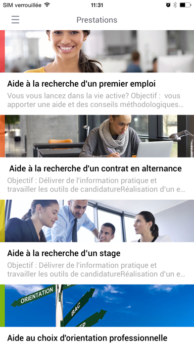 Objectif Emploi Orientation screenshot three