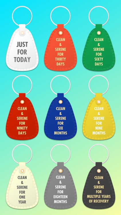 Recovery Keytags – 12 Step Recovery Stickers