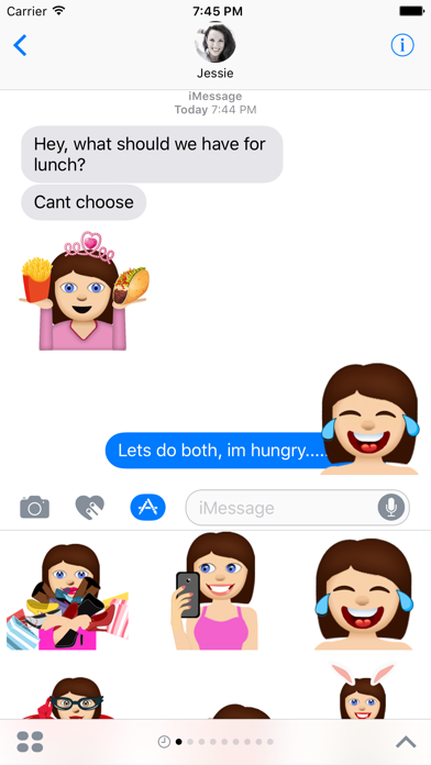 Anna – Sassy Emoji Stickers for Women on iMessage