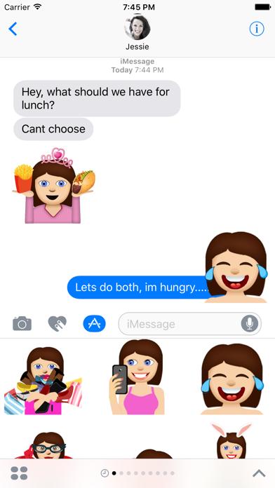 Anna – Sassy Emoji Stickers for Women on iMessage screenshot one