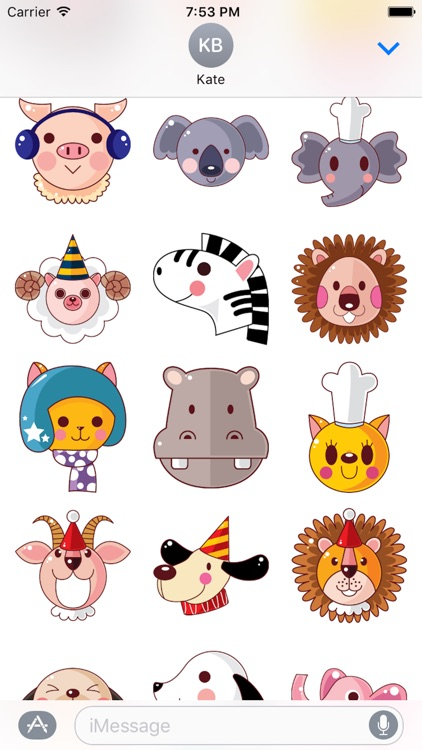 Animal Funny Sticker Pack 01