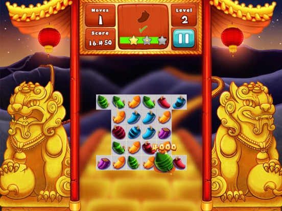 The Lion Dance Match The Fire Crackers Puzzle-ipad-3