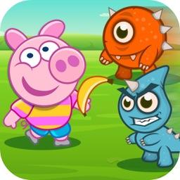 Funny Piggy Catch Egg