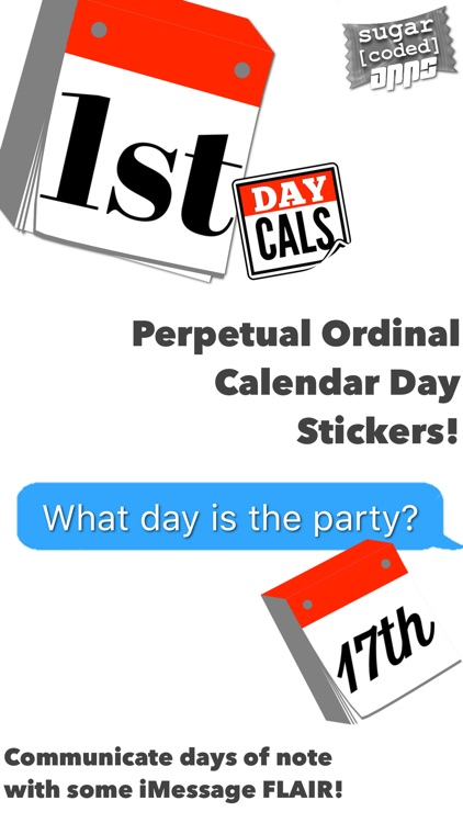 DayCals: Ordinal Perpetual Calendar Stickers screenshot-0