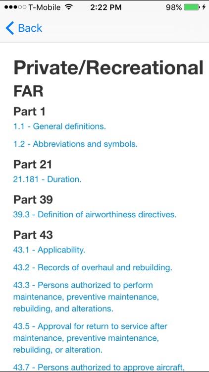 Sporty's FAR/AIM screenshot-4