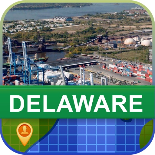 Offline Delaware, USA Map - World Offline Maps