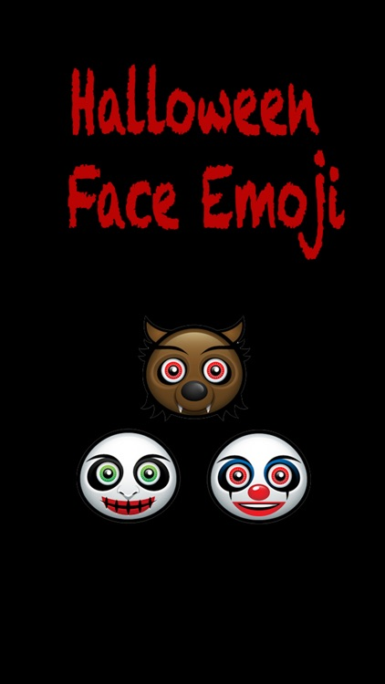 Halloween Face Emoji - Sticker