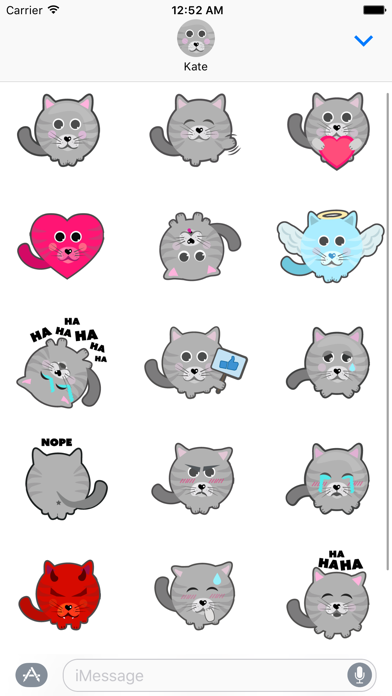 Cat Stickers for iMessage Screenshot