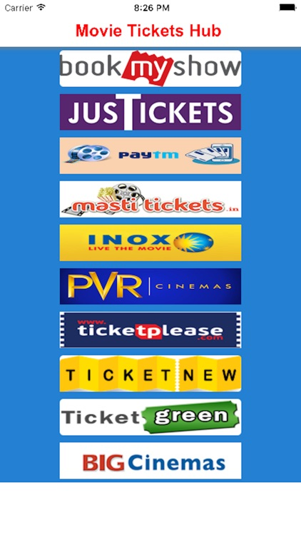 Movie Tickets Hub