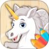 Pintar unicornios y pegasos – Libro para colorear