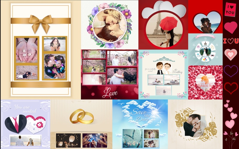 Frames and Collage Templates for Photoshop - Love screenshot 4