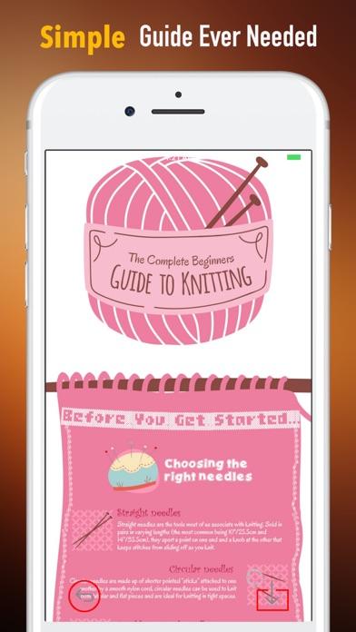 初心者ガイド用の編み物|チュートリアルとヒント screenshot1