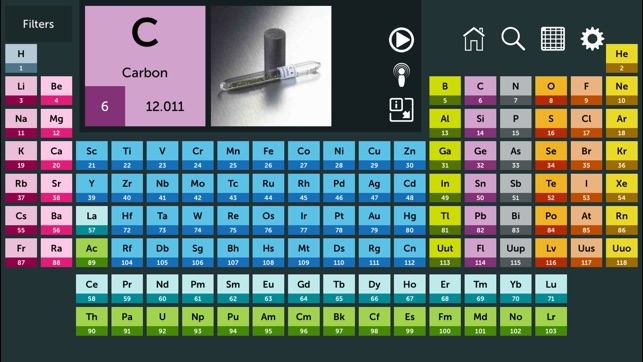 Periodic table on the app store screenshots urtaz