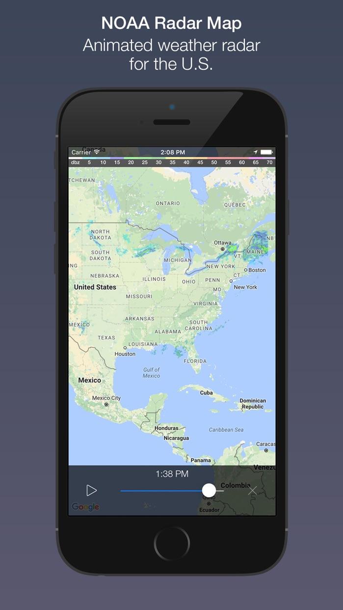 Fresh Air - Hyperlocal Weather & NOAA Radar Map Screenshot