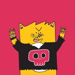 Cat & Friends - Redbubble sticker pack