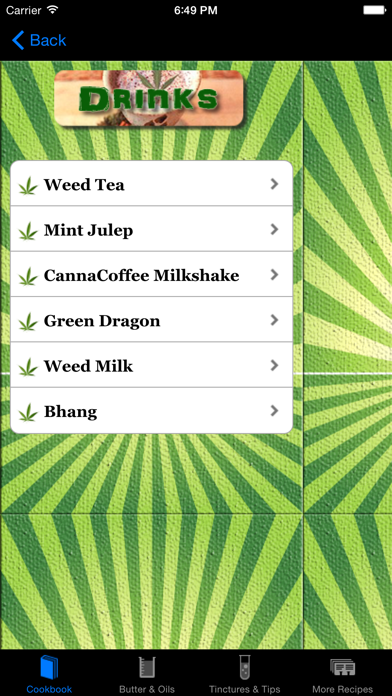 Weed Cookbook review screenshots
