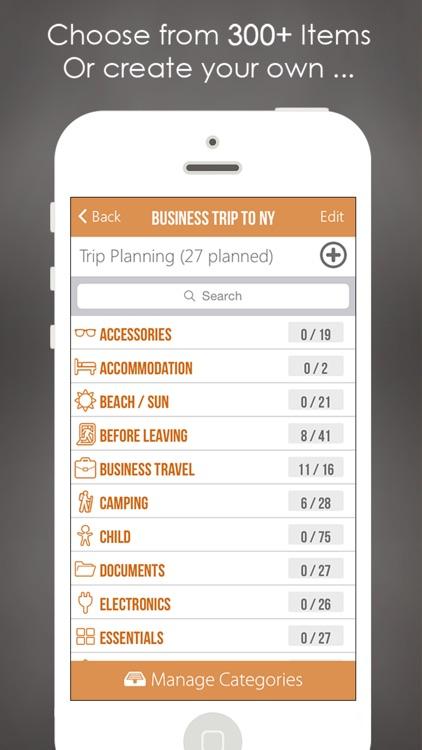 Packing Planner PRO- Travel List for Trip Advisor screenshot-4