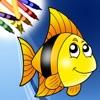 海のぬりえ! - iPhoneアプリ