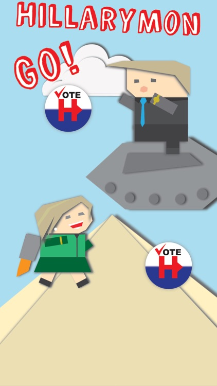Hillarymon Go