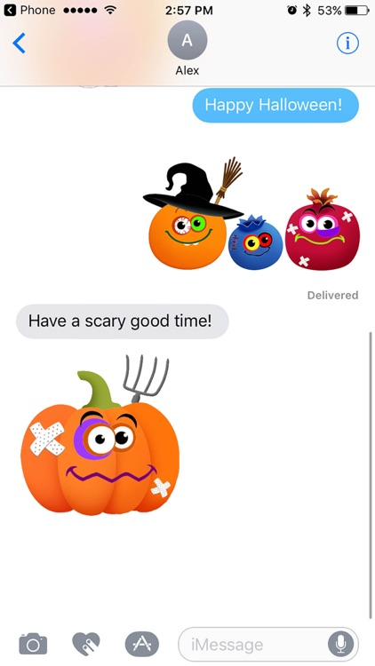 Halloween Funny Food! Animated sticker pack free