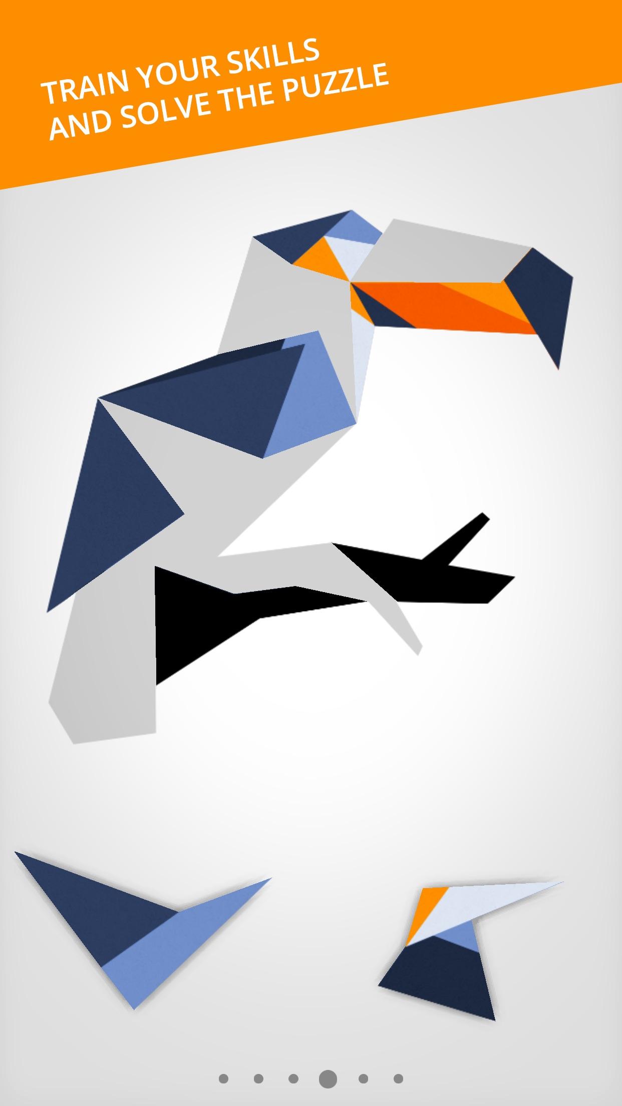 Cardinal Land - Jigsaw & Tangram Puzzle Blend Screenshot