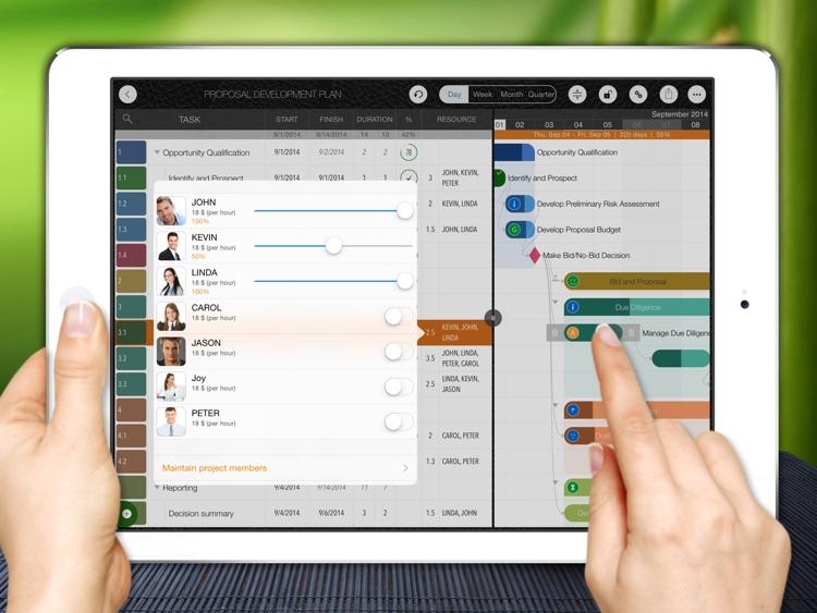 QuickPlan - Project Management, Plan, Gantt Chart screenshot-3