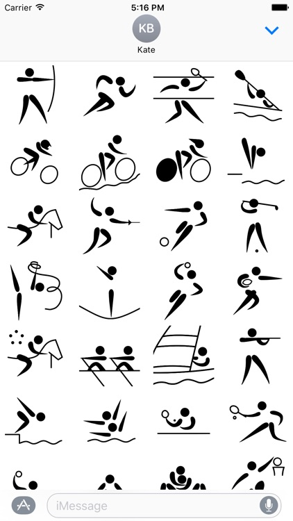 Sport stickers for iMessage