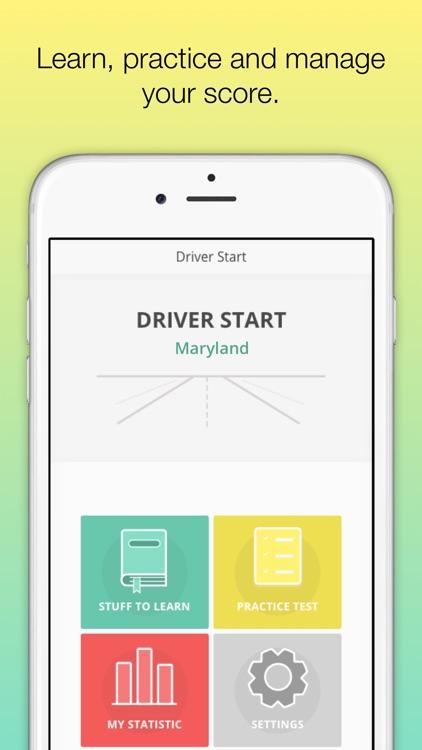 Driver Start MD MVA Driver License knowledge test