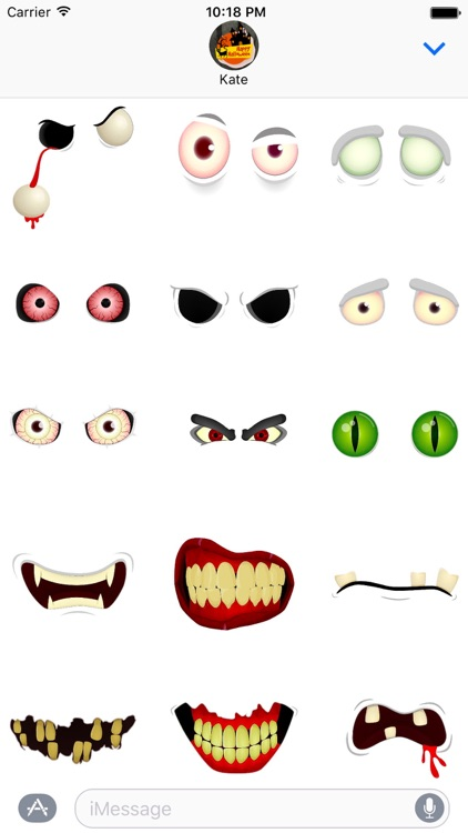 Halloween - Funny and Scary Stickers for Messages