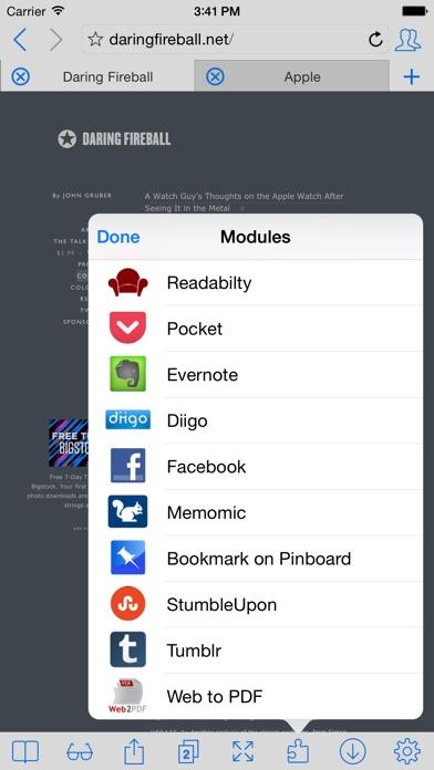 iCab Mobile (Web Browser) ScreenShot2
