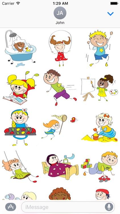 Child Cute Sticker Pack 01