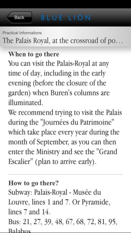 Paris - The Palais-Royal Guide Preview screenshot-4