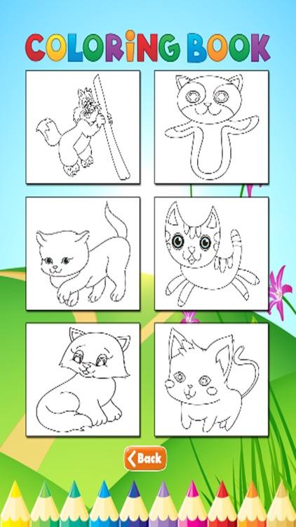 Cats Coloring Book - Activities for Kids screenshot-4