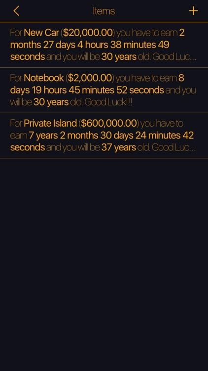How Long Will I Earn screenshot-4