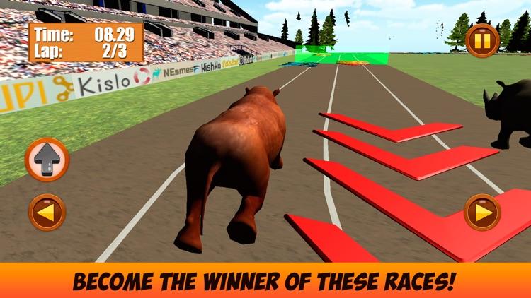 Wild Animal Racing Challenge 3D Full screenshot-3