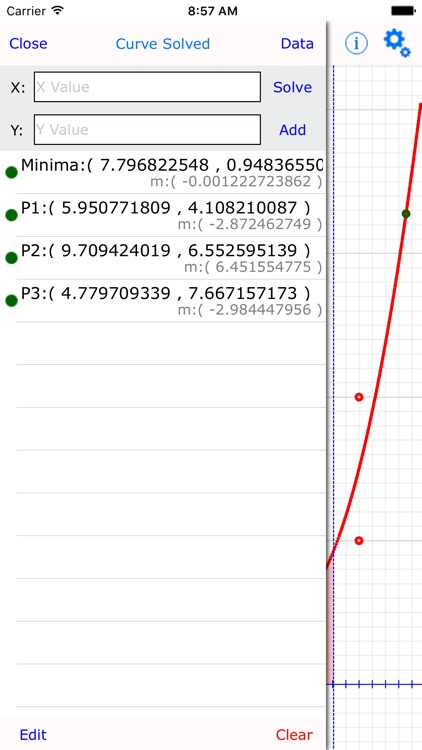 Curve Fit Graph Calculator