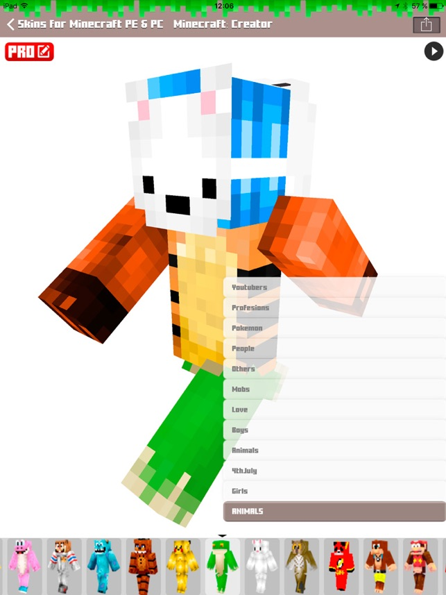 Skins For Minecraft PE PC Free Skins On The App Store - Skin para minecraft android y pc