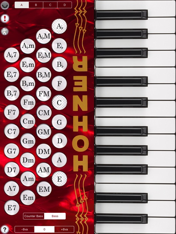 Hohner MIDI Piano Accordion MIDI Controller screenshot-0