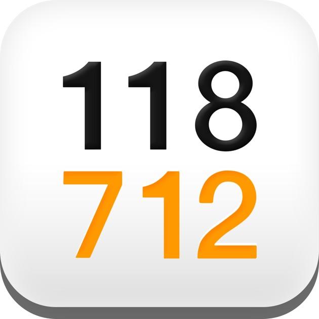 118 712 annuaire pro particulier inverse dans l app store. Black Bedroom Furniture Sets. Home Design Ideas