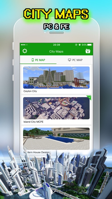 Best City Maps for Minecraft PE : Pocket Edition screenshot one