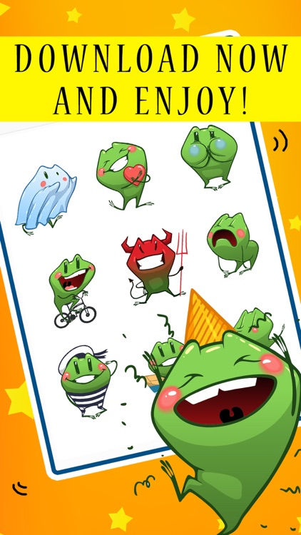 Blush Froggy Moji - Sticker Set for iMessage