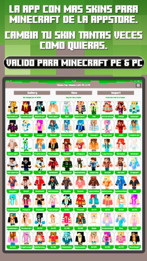 Skins For Minecraft PE PC Free Skins En App Store - Skin para minecraft or