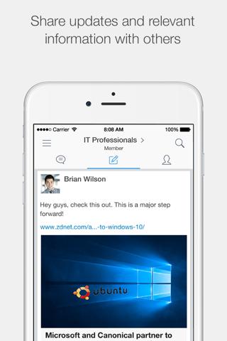 Screenshot of VMware Socialcast