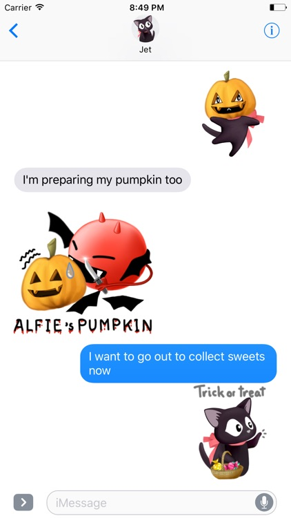 Halloween Stickers Free Samples for Text Messages