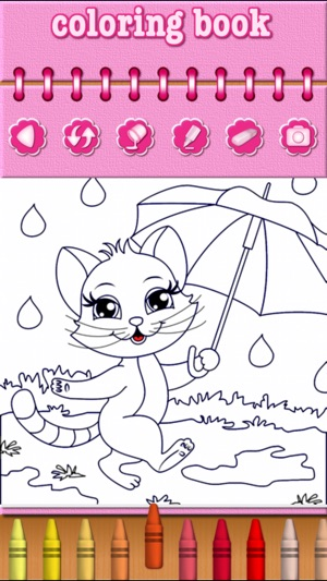 Cat Kitty Kitten Coloring Book on the App Store