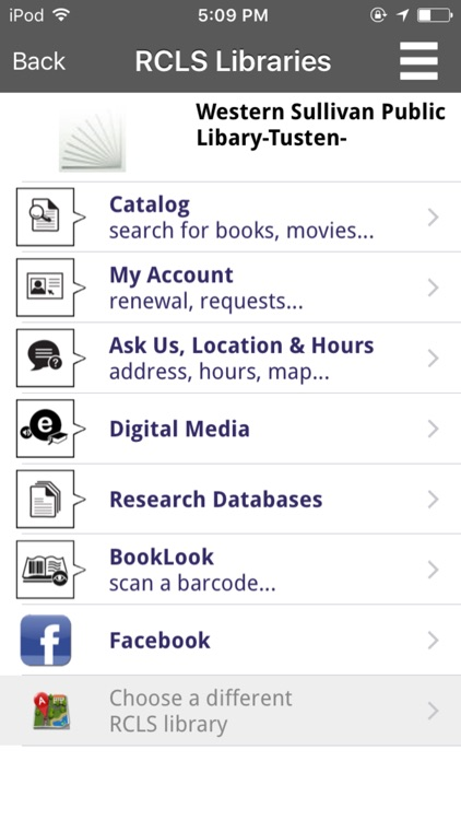 Ramapo Catskill Library System Mobile screenshot-1