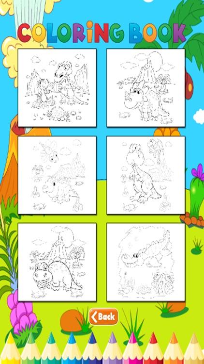 Dinosaur Coloring Book - For Kids screenshot-4