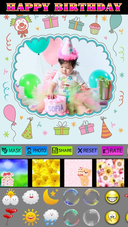 Happy Birthday Photo Frames + Stickers screenshot-4