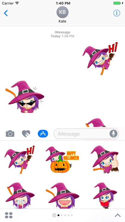 Little Witch - Cute witch stickers screenshot-3